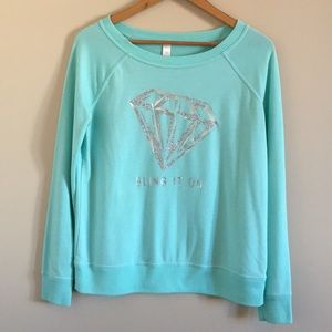 "Flirtitude | ""Bling It On"" Glitter Long Sleeve Top"